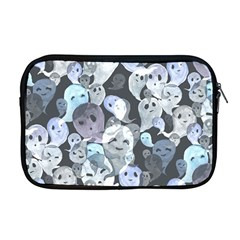 Ghosts Blue Sinister Helloween Face Mask Apple Macbook Pro 17  Zipper Case by Mariart
