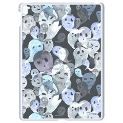 Ghosts Blue Sinister Helloween Face Mask Apple Ipad Pro 9 7   White Seamless Case by Mariart