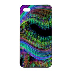 Aurora Wave Colorful Space Line Light Neon Visual Cortex Plate Apple Iphone 4/4s Seamless Case (black) by Mariart