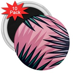 Graciela Detail Petticoat Palm Pink Green 3  Magnets (10 Pack)  by Mariart