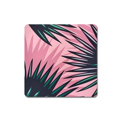 Graciela Detail Petticoat Palm Pink Green Square Magnet by Mariart