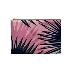Graciela Detail Petticoat Palm Pink Green Cosmetic Bag (medium)