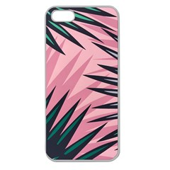 Graciela Detail Petticoat Palm Pink Green Apple Seamless Iphone 5 Case (clear) by Mariart