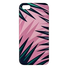 Graciela Detail Petticoat Palm Pink Green Apple Iphone 5 Premium Hardshell Case by Mariart