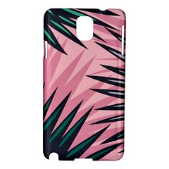 Graciela Detail Petticoat Palm Pink Green Samsung Galaxy Note 3 N9005 Hardshell Case by Mariart