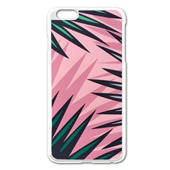 Graciela Detail Petticoat Palm Pink Green Apple Iphone 6 Plus/6s Plus Enamel White Case by Mariart