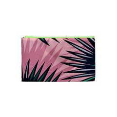 Graciela Detail Petticoat Palm Pink Green Cosmetic Bag (xs) by Mariart