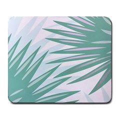 Graciela Detail Petticoat Palm Pink Green Gray Large Mousepads by Mariart