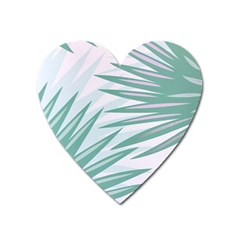 Graciela Detail Petticoat Palm Pink Green Gray Heart Magnet by Mariart
