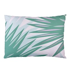 Graciela Detail Petticoat Palm Pink Green Gray Pillow Case (two Sides)