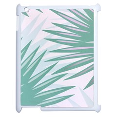 Graciela Detail Petticoat Palm Pink Green Gray Apple Ipad 2 Case (white) by Mariart