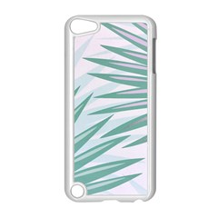 Graciela Detail Petticoat Palm Pink Green Gray Apple Ipod Touch 5 Case (white) by Mariart