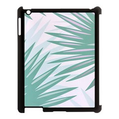 Graciela Detail Petticoat Palm Pink Green Gray Apple Ipad 3/4 Case (black) by Mariart
