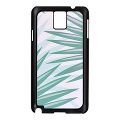 Graciela Detail Petticoat Palm Pink Green Gray Samsung Galaxy Note 3 N9005 Case (black) by Mariart