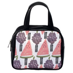 Grapes Watermelon Fruit Patterns Bouffants Broken Hearts Classic Handbags (one Side)