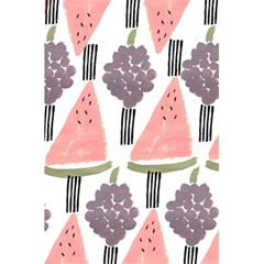 Grapes Watermelon Fruit Patterns Bouffants Broken Hearts 5 5  X 8 5  Notebooks by Mariart