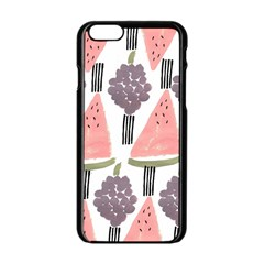 Grapes Watermelon Fruit Patterns Bouffants Broken Hearts Apple Iphone 6/6s Black Enamel Case