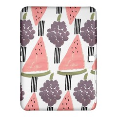 Grapes Watermelon Fruit Patterns Bouffants Broken Hearts Samsung Galaxy Tab 4 (10 1 ) Hardshell Case  by Mariart