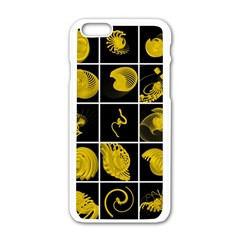 Grasshopper Rhino Spirograph Beautiful Fabulous Apple Iphone 6/6s White Enamel Case by Mariart