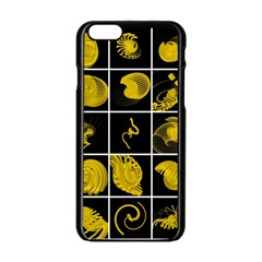 Grasshopper Rhino Spirograph Beautiful Fabulous Apple Iphone 6/6s Black Enamel Case by Mariart