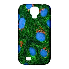 Fluorescence Microscopy Green Blue Samsung Galaxy S4 Classic Hardshell Case (pc+silicone) by Mariart