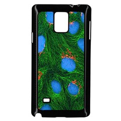Fluorescence Microscopy Green Blue Samsung Galaxy Note 4 Case (black) by Mariart