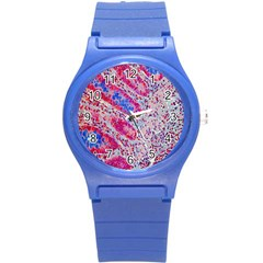 Histology Inc Histo Logistics Incorporated Alcian Blue Round Plastic Sport Watch (s) by Mariart
