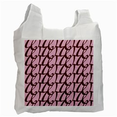 Letter Font Zapfino Appear Recycle Bag (two Side)  by Mariart