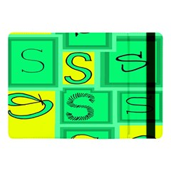 Letter Huruf S Sign Green Yellow Apple Ipad Pro 10 5   Flip Case by Mariart