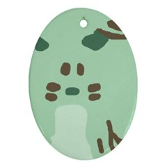 Lineless Background For Minty Wildlife Monster Ornament (oval)