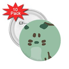 Lineless Background For Minty Wildlife Monster 2 25  Buttons (10 Pack)  by Mariart