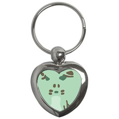 Lineless Background For Minty Wildlife Monster Key Chains (heart)  by Mariart