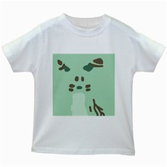 Lineless Background For Minty Wildlife Monster Kids White T Shirts by Mariart