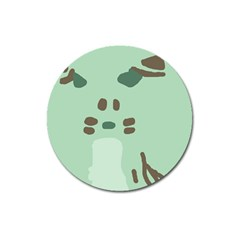 Lineless Background For Minty Wildlife Monster Magnet 3  (round)