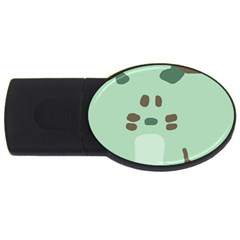 Lineless Background For Minty Wildlife Monster Usb Flash Drive Oval (4 Gb) by Mariart