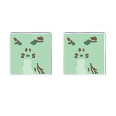Lineless Background For Minty Wildlife Monster Cufflinks (square) by Mariart