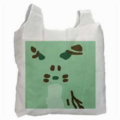 Lineless Background For Minty Wildlife Monster Recycle Bag (two Side)