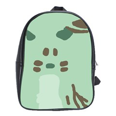 Lineless Background For Minty Wildlife Monster School Bag (large)