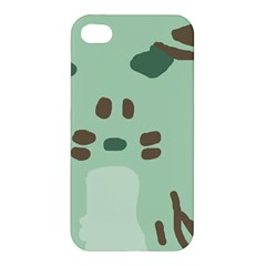 Lineless Background For Minty Wildlife Monster Apple Iphone 4/4s Hardshell Case