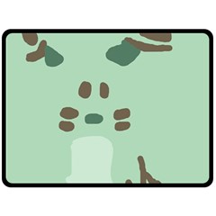 Lineless Background For Minty Wildlife Monster Double Sided Fleece Blanket (large)  by Mariart