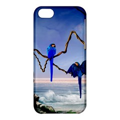 Wonderful Blue  Parrot Looking To The Ocean Apple Iphone 5c Hardshell Case by FantasyWorld7