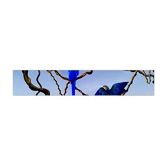 Wonderful Blue  Parrot Looking To The Ocean Flano Scarf (mini)
