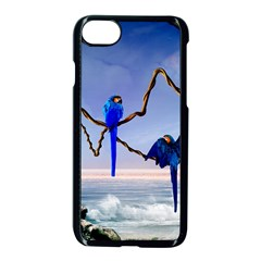 Wonderful Blue  Parrot Looking To The Ocean Apple Iphone 7 Seamless Case (black) by FantasyWorld7