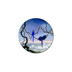Wonderful Blue  Parrot Looking To The Ocean Golf Ball Marker (10 Pack) by FantasyWorld7