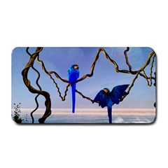 Wonderful Blue  Parrot Looking To The Ocean Medium Bar Mats by FantasyWorld7