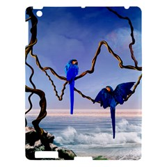 Wonderful Blue  Parrot Looking To The Ocean Apple Ipad 3/4 Hardshell Case by FantasyWorld7