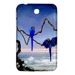 Wonderful Blue  Parrot Looking To The Ocean Samsung Galaxy Tab 3 (7 ) P3200 Hardshell Case  by FantasyWorld7