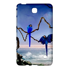 Wonderful Blue  Parrot Looking To The Ocean Samsung Galaxy Tab 4 (7 ) Hardshell Case  by FantasyWorld7