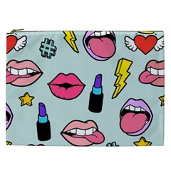 Lipstick Lips Heart Valentine Star Lightning Beauty Sexy Cosmetic Bag (xxl)  by Mariart