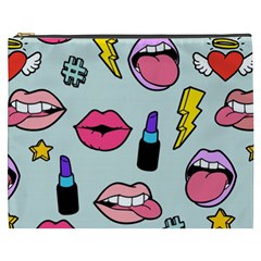 Lipstick Lips Heart Valentine Star Lightning Beauty Sexy Cosmetic Bag (xxxl)  by Mariart